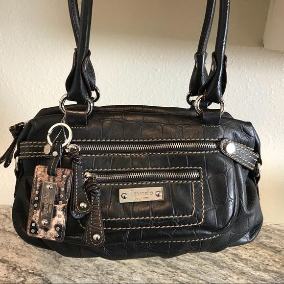 53e0a912 Tignanello Double Front Zip Leather Bag